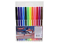 Фломастеры цветные Planes, 12 штук, PLAB-US1-1M-12, фото
