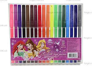 Фломастеры цветные «Принцессы Диснея», PRAB-US1-1M-18