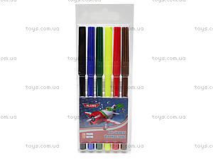 Фломастеры цветные «Самолеты», 6 штук, PLAB-US1-1M-6