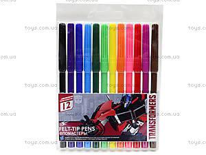 Фломастеры цветные «Transformers», TRBB-US1-1M-12