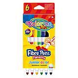 Фломастеры двухсторонние Fibre Pens 6 штук и 6 цветов Colorino, 13437PTR/1, Украина