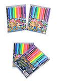 """Фломастеры """"Girls"""" 12 цветов, Josef Otten (2 набора в упаковке), 828BL_12, игрушки"""