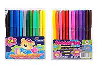 """Фломастеры """"Мишка"""" 24 цвета ПВХ упаковка, Josef Otten , 828BM_24, toys.com.ua"""