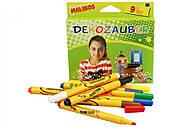 Фломастеры нестираемые для декорирования Malinos Dekozauber 9 шт, MA-300034, toys