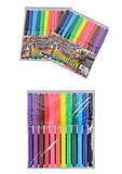 """Фломастеры """"Moto"""" 12 цветов (2 набора в упаковке), 6816BK_12, отзывы"""