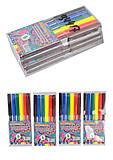 """Фломастеры """"Узоры с бабочкой"""" 6 цветов (4 набора в упаковке), 6816AE-6, оптом"""
