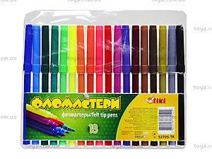 Комплект детских фломастеров, 18 цветов, 52705-TK, купить