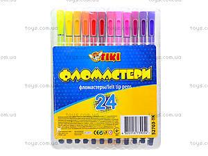 Фломастеры TIKI, 24 цвета, 52703-TK, купить