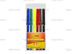 Комплект детских фломастеров, 6 цветов, 52708-TK, купить