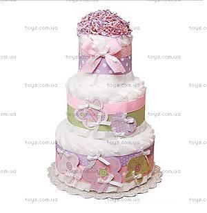 Торт из памперсов для девочки Flowers and butterfly, BH16