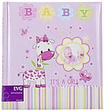 Фотоальбом «Жирафик» 200 фотографий (розовый), BKM46200_Baby, интернет магазин22 игрушки Украина