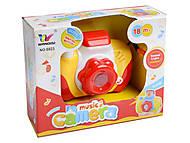 Музыкальный фотоаппарат со светом, 6823, игрушки