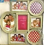 Фоторамка семейная на 7 фото, 43*41см, бежевый рустик, BH1304, купить