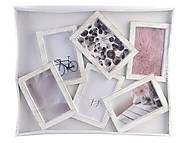 Фоторамка семейная, на 6 фото, белый рустик, WR-106, фото