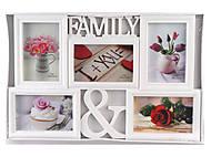"""Фоторамка семейная """"FAMILY &"""" на 5 фото, L056-S, купить игрушку"""