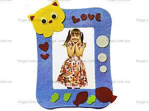 Детская фоторамка из фетра «Котик», 306-4, отзывы
