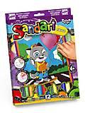 """Фреска из цветного песка """"Sandart"""" Котик, SA-02-05, детские игрушки"""