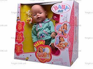 Функциональный игрушечный пупс Baby Doll, 058-A, фото