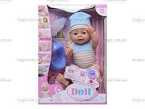 Функциональный пупс с аксессуарами Baby Doll, YL1710B, фото