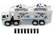 Игрушечный трейлер-автовоз, 6601A, toys