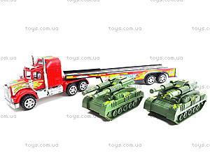 Детский инерционный трейлер с военной техникой, 781-20, цена