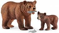 Фигурка «Медведица гризли с медвежонком», 42473, фото