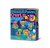Фигурки из гипса «Светящиеся совы», 00-04654, детские игрушки