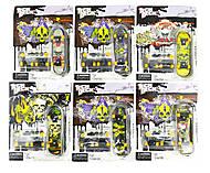 Фингенборд-мини Скейт (запасные колеса, отвертка, 2 винтика и подвески) ассорти, 9945-1, тойс ком юа
