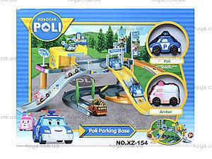 Гараж для машин «Робокар Поли», XZ-154, детские игрушки