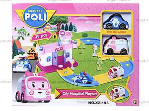Игрушечный гараж для машинок «Робокар Поли», XZ-193, игрушки