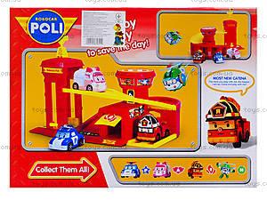 Детский гараж «Пожарная станция» из серии Робокар Поли, XZ-302, игрушки