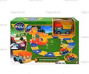 Игрушечный гараж «Робокар Поли», зеленый, XZ-153, купить