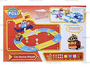 Гараж для машинок «Робокар Поли», красный, XZ-152, детские игрушки