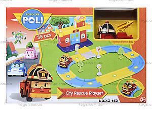 Гараж для машинок «Робокар Поли», красный, XZ-152, магазин игрушек