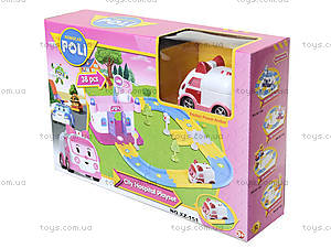 Гараж для машинок «Робокар Поли», розовый, XZ-151, фото