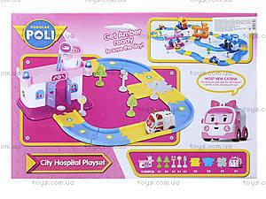 Гараж для машинок «Робокар Поли», розовый, XZ-151, цена