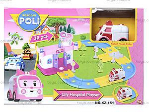 Гараж для машинок «Робокар Поли», розовый, XZ-151, магазин игрушек