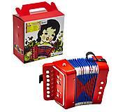 Гармошка игрушечная красная , МІ010, фото