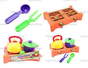 Газовая плита и набор посуды «Юника»,