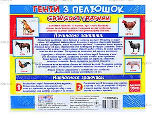 Демонстрационные карточки «Домашние животные», 13107043У, фото
