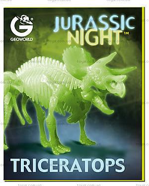 Набор Geoworld «Ночь Юрского периода. Скелет Трицератопса», CL140K, купить