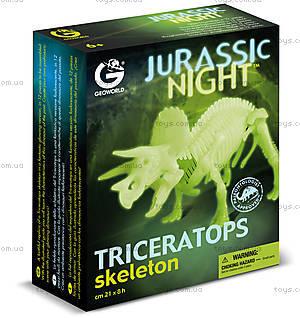 Набор Geoworld «Ночь Юрского периода. Скелет Трицератопса», CL140K