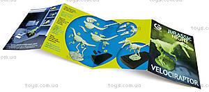 Набор Geoworld «Ночь Юрского периода. Скелет Велоцираптора», CL142K, детские игрушки