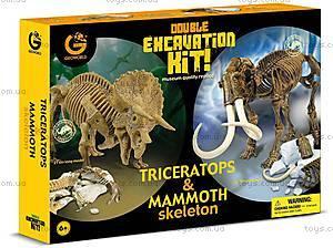 Игровой набор юного палеонтолога «Трицератопс и Мамонт», CL167K, фото