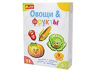 Гипс на магнитах «Фрукты и овощи», 4004, купить игрушку