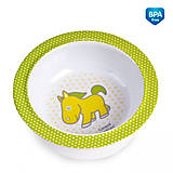 Глубокая тарелка из меламина на присоске с салатовой лошадкой, 4/519-4, toys.com.ua