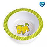 Глубокая тарелка из меламина на присоске с салатовой лошадкой, 4/519-4, купить игрушку