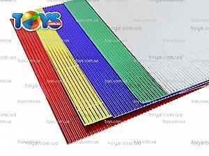 Гофрокартон цветной неоновый, 5 листов, PP13-257К, купить
