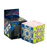 Головоломка на шестернях «Gear Cube» белая, 689A, фото