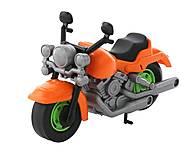 Гоночный мотоцикл оранжевый, 6232, фото